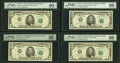 Small Size:Federal Reserve Notes, Fr. 1975-A; B; D (2); G; G*; H; J (2); L $5 1977A Federal Reserve Notes PMG Graded.. ... (Total: 10 notes)