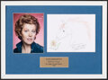 Movie Posters:Original Art, Lynn Redgrave: Doodle for Hunger (St. John's Food Pantry, 2000). Very Fine-. Framed and Matted Autographed Original Crayon A...
