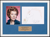 Lynn Redgrave: Doodle for Hunger (St. John's Food Pantry, 2000). Very Fine-. Framed and Matted Autographed Original Cray...