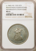 (c. 1860) Brandywine / Germantown, Monmouth & Story Point, HK-133D, R.6, MS61 NGC. Tin