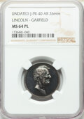 U.S. Mint Medals, Undated Medal Lincoln - Garfield MS64 Prooflike NGC. King-524, Julian-PR-40, Cunningham-22-520S. Silver, 26 mm....