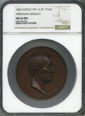 1865 Abraham Lincoln Copper U.S. Mint Medal, Julian-PR-12, MS64 Brown NGC