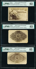 Spain Banco de Espana 25 Pesetas ND (1906) Front and Back Archival Photographs Pick 57 for Type PMG Choice Uncircu