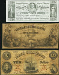 Obsoletes By State:Pennsylvania, Three Pennsylvania Obsoletes.. Erie- Bank of Commerce $10 Dec. 14, 1858 VG;. Harrisburg- Harrisburg Bank $5 Jan.... (Total: 3 notes)