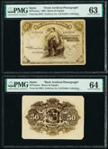 Spain Banco de Espana 50 Pesetas 30.11.1906 Pick 58 for Type Front and Back Archival Photographs PMG Choice Uncirc