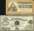 """Obsoletes By State:New York, New York, NY Ad Note Pair.. Centaur Bank/Centaur Liniments """"100"""" Advertising Note circa 1870s Vlack 2405 VF; minor s... (Total: 2 notes)"""