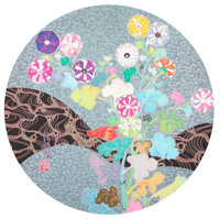 Takashi Murakami (b. 1962) Korin: Flowers, 2016 Offset lithograph in colors on smooth wove paper