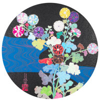 Takashi Murakami (b. 1962) Korin: Azure River, 2015 Offset lithograph in colors on smooth wove paper