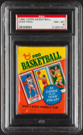Basketball Cards:Unopened Packs/Display Boxes, 1980-81 Topps Basketball Unopened Wax Pack PSA NM-MT 8. ...
