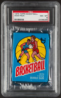 Basketball Cards:Singles (1970-1979), 1975-76 Topps Basketball Test Wax Pack, PSA NM-MT 8....