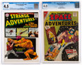 Silver Age (1956-1969):Science Fiction, Strange Adventures #180/Space Adventures #42 CGC-Graded Group (DC, 1961-65).... (Total: 2 Comic Books)