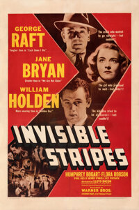 "Invisible Stripes (Warner Bros., 1939). Fine- on Linen. One Sheet (27"" X 41"")"