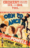 """Movie Posters:Musical, Born to Dance (MGM, 1936). Fine/Very Fine. Window Card (14"""" X 22"""").. ..."""
