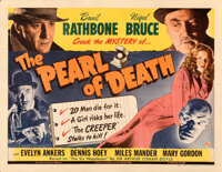 "The Pearl of Death (Universal, 1944). Folded, Fine/Very Fine. Half Sheet (22"" X 28"")"