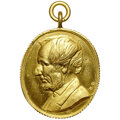 Lincoln, 1865 Medal Lincoln, Martyr to Liberty, King-281, MS63 NGC. Oval, Brass....