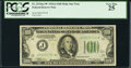 Fr. 2153-J* $100 1934A Mule Federal Reserve Note. PCGS Very Fine 25
