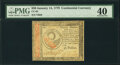 Colonial Notes:Continental Congress Issues, Continental Currency January 14, 1779 $30 PMG Extremely Fine 40.. ...