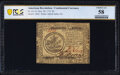 Continental Currency November 29, 1775 $5 PCGS Banknote Choice AU 58