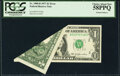 Printed Foldover Error Fr. 1909-B $1 1977 Federal Reserve Note. PCGS Choice About New 58PPQ