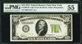 Small Size:Federal Reserve Notes, Fr. 2004-B* $10 1934 Light Green Seal Federal Reserve Note. PMG About Uncirculated 55.. ...