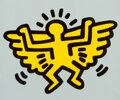 Prints & Multiples, Keith Haring (1958-1990). Winged Angel, from Icons, 1990. Silkscreen in colors with embossing on Arches Cover paper...