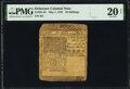 Colonial Notes:Delaware, Delaware May 1, 1756 20s PMG Very Fine 20 Net.. ...