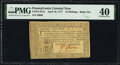 Colonial Notes:Pennsylvania, Pennsylvania April 10, 1777 16s PMG Extremely Fine 40.. ...