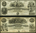 Gosport, IN- Citizens Bank of Gosport $5; $10 July 1, 1857 Wolka 0770-04, 0770-05 Crisp Uncirculated; About Uncirculated...