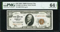 Fr. 1860-J $10 1929 Federal Reserve Bank Note. PMG Choice Uncirculated 64 EPQ