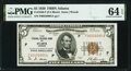 Fr. 1850-F $5 1929 Federal Reserve Bank Note. PMG Choice Uncirculated 64 EPQ
