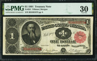 Fr. 351 $1 1891 Treasury Note PMG Very Fine 30