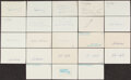 Autographs:Index Cards, Baseball Hall of Famers Signed Index Cards, Lot of 23....