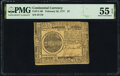 Colonial Notes:Continental Congress Issues, Continental Currency February 26, 1777 $7 PMG About Uncirculated 55 EPQ.. ...