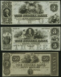 Newton, NJ- Sussex Bank $2; $3; $50 18__ Remainders G18; G28; G50a Crisp Uncirculated. ... (Total: 3 notes)