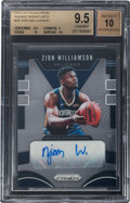 Basketball Cards:Singles (1980-Now), 2019 Panini Prizm Zion Williamson Rookie Signatures #RS-ZWL BGS Gem Mint 9.5, Auto 10....
