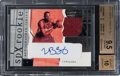 Basketball Cards:Singles (1980-Now), 2003 SPx LeBron James (Red Jersey Swatch) #151 BGS Gem Mint 9.5, Auto 10 - #'d 142/750....