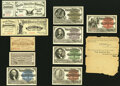 Set of Ten Admission Tickets with Original After-Event Envelope from the 1893 World's Columbian Exposition. As-Issued Co...