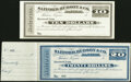 Obsoletes By State:Arizona, Tucson, AZ (Terr.)- Safford, Hudson & Co. $10; $20 Certificates of Deposit 18__ Remainders Choice Crisp Uncirculated; Cris... (Total: 2 notes)