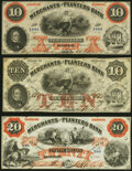 Obsoletes By State:Georgia, Savannah, GA- Merchants and Planters Bank $10 (2); $20 1859-60 G10a; G10b; G12b Extremely Fine; About Uncirculated; Extrem... (Total: 3 notes)