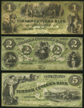 Savannah, GA- Timber Cutter's Bank $1; $2; $5 ca. 1860-61 G2b; G4b; G6b Very Good; Fine; Fine