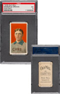Baseball Cards:Singles (Pre-1930), 1909-11 T206 Old Mill Mordecai Brown (Portrait) PSA EX 5 - Pop One, None Higher for Brand! ...