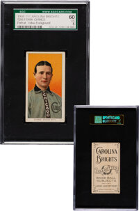 1909-11 T206 Carolina Brights Frank Chance (Yellow Portrait) SGC 60 EX 5 - The Highest Graded Example!