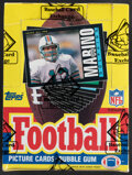 Football Cards:Singles (1970-Now), 1985 Topps Football Wax Box With 36 Unopened Packs. ...