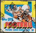 Football Cards:Singles (1970-Now), 1983 Topps Football Cello Box With 24 Unopened Packs - Allen & Singletary Rookie Year. ...