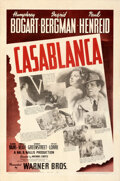 "Movie Posters:Academy Award Winners, Casablanca (Warner Bros., 1942). Very Fine- on Linen. One Sheet (27"" X 41"").. ..."