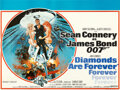 "Movie Posters:James Bond, Diamonds are Forever (United Artists, 1971). Fine/Very Fine on Linen. British Quad (30"" X 40"") Robert McGinnis Artwork.. ..."