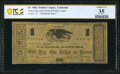 Obsoletes By State:Louisiana, Pointe Coupee, LA- Police Jury of the Parish of Point Coupee $1 July, 1862 PCGS Banknote Choice Very Fine 35.. ...