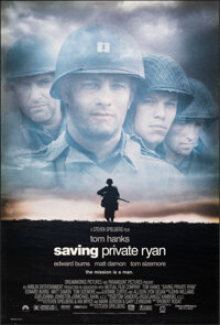 """Saving Private Ryan (Paramount, 1998). Rolled, Very Fine-. One Sheet (27"""" X 40"""") DS. War"""
