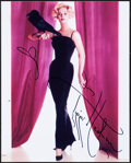 """Movie Posters:Hitchcock, Tippi Hedren in The Birds & Other Lot (1980s). Near Mint-. Autographed Color Photo (8"""" X 10"""") & Autographed Index Card (3"""" X... (Total: 2 Items)"""