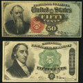 Fractional Currency:Fourth Issue, Fr. 1376 50¢ Fourth Issue Stanton Very Fine;. Fr. 1379 50¢ Fourth Issue Dexter About New.. ... (Total: 2 notes)